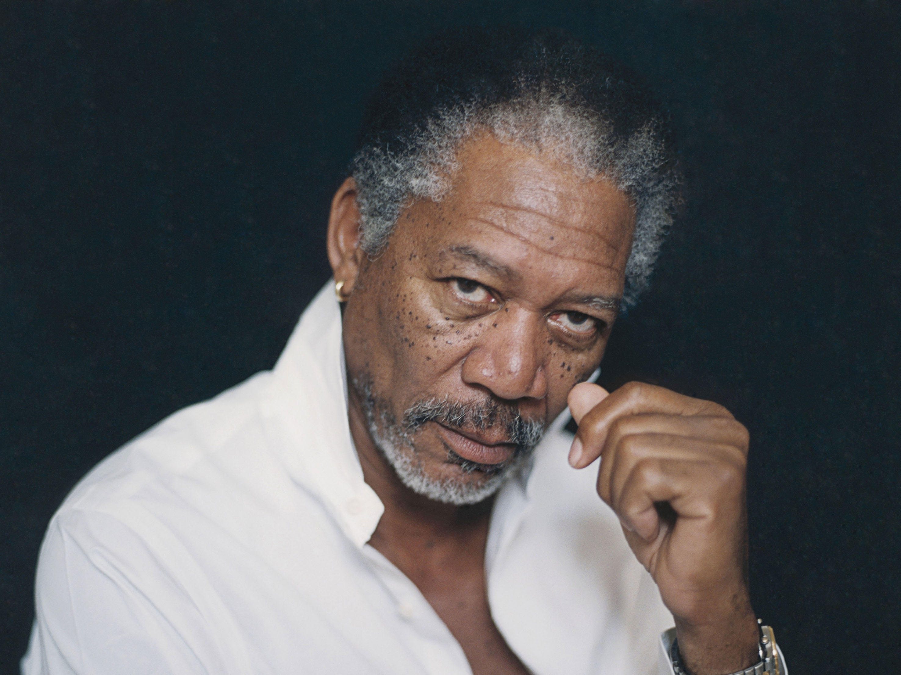 ca. 2001 --- Morgan Freeman --- Image by © Patrick Swirc/CORBIS OUTLINE
